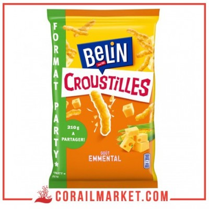 Biscuit apéritif croustilles party émmental BELIN 210 g