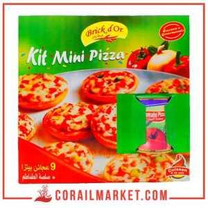 kit Mini pizzas + sauce tomate Brick d'or 9 pizzas