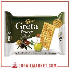 biscuit salé au huile d'olive greta 30 g