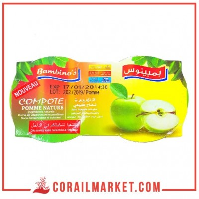 Compote Pomme NATURE bambinos 2 pièces