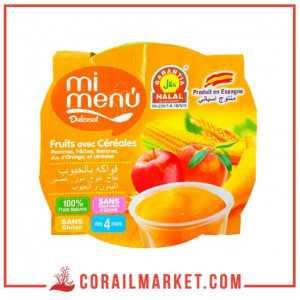 Compote fruits et céréales 1 pièces