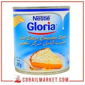 lait entier concentré sucré gloria nestle 397g