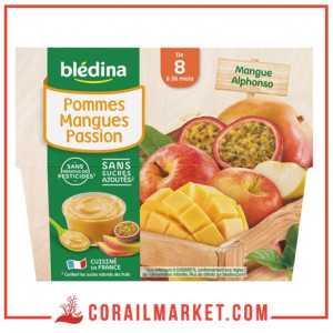 Compotes ( Pommes Mangues Passion) dès 8 mois blédina 400 g